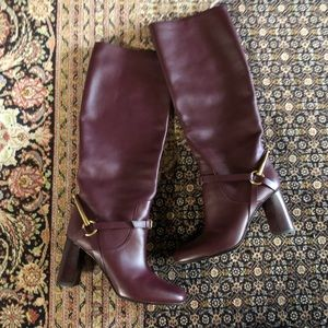 GORGEOUS BUTTERY SOFT BURGUNDY GUCCI BOOTS